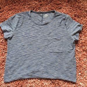Old Navy blue striped boyfriend T shirt
